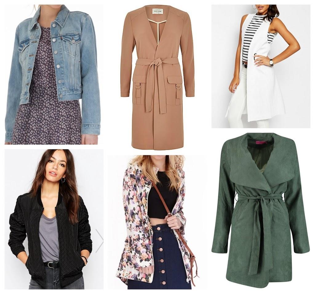 spring coats wishlist fashion essentials