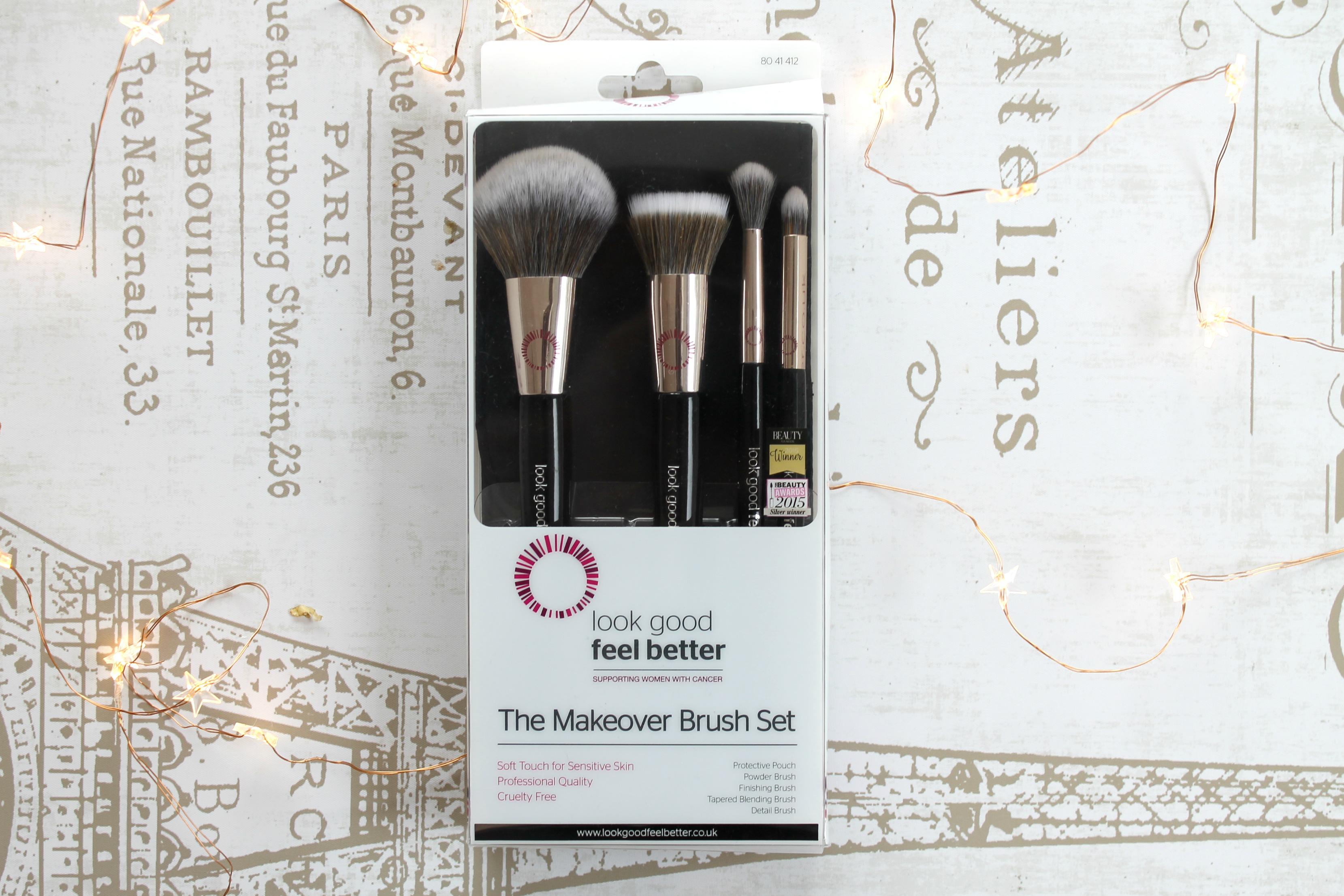 look good feel better makeover brush set