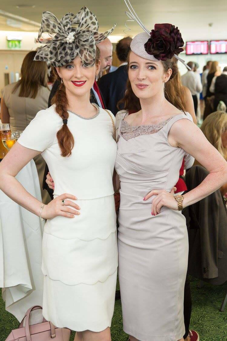 Casserly sisters Galway Races style