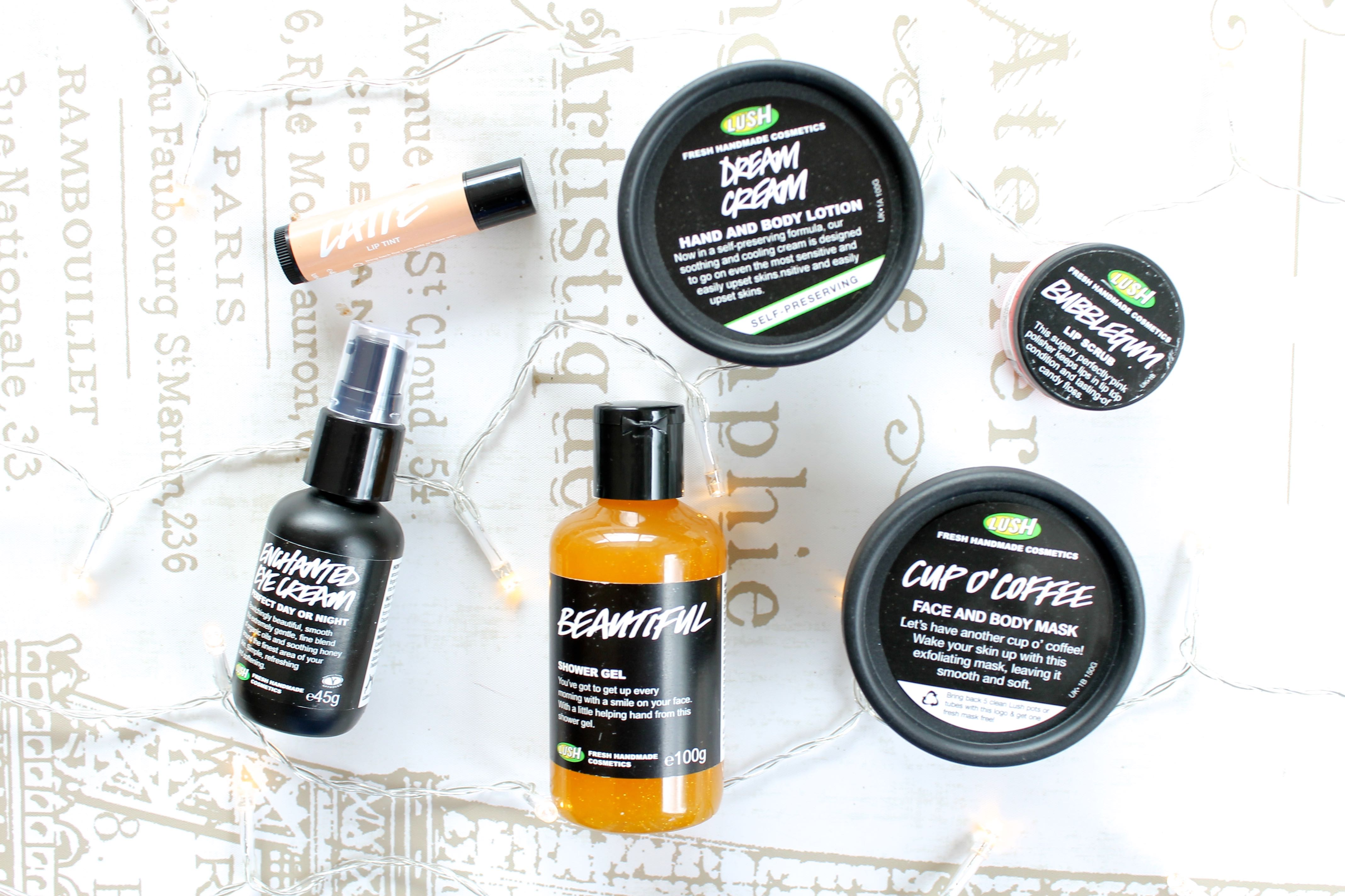 Lush skincare haul blog