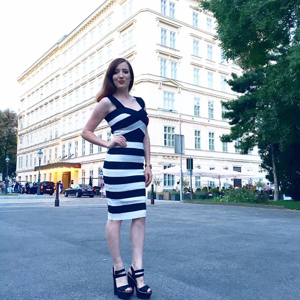 Monochrome Vienna Style evening look