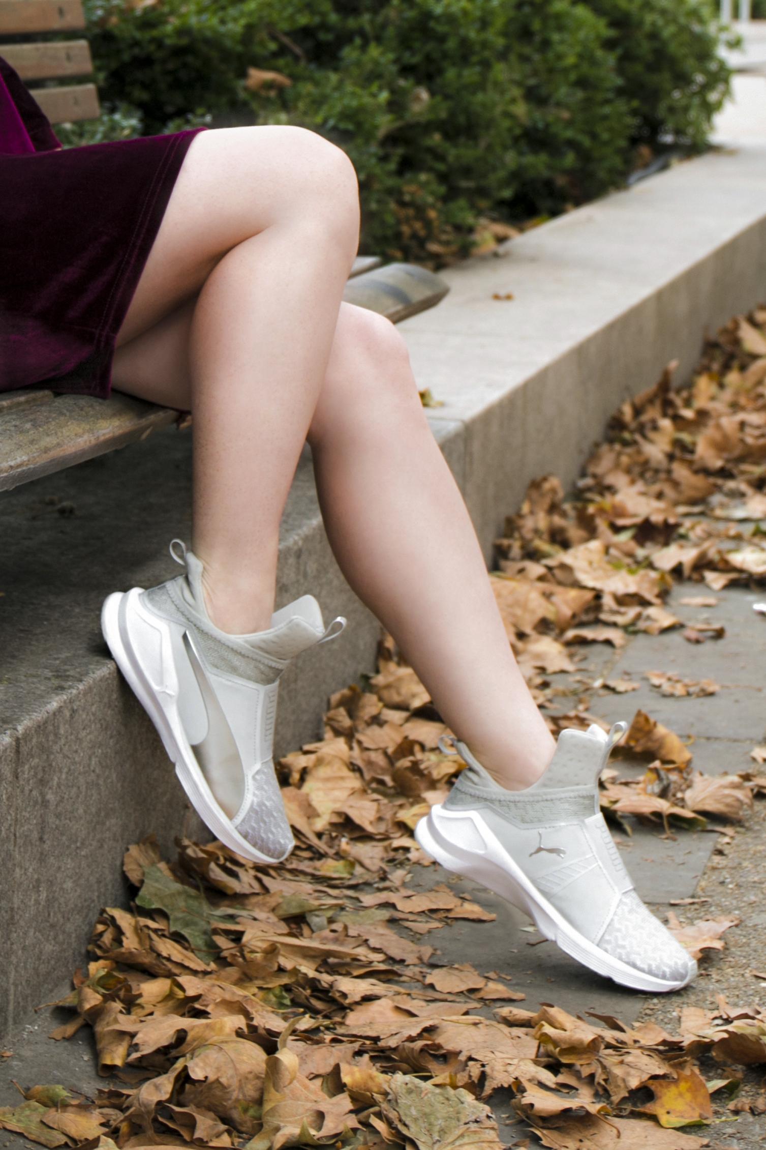 Puma fierce trainers outfit blog