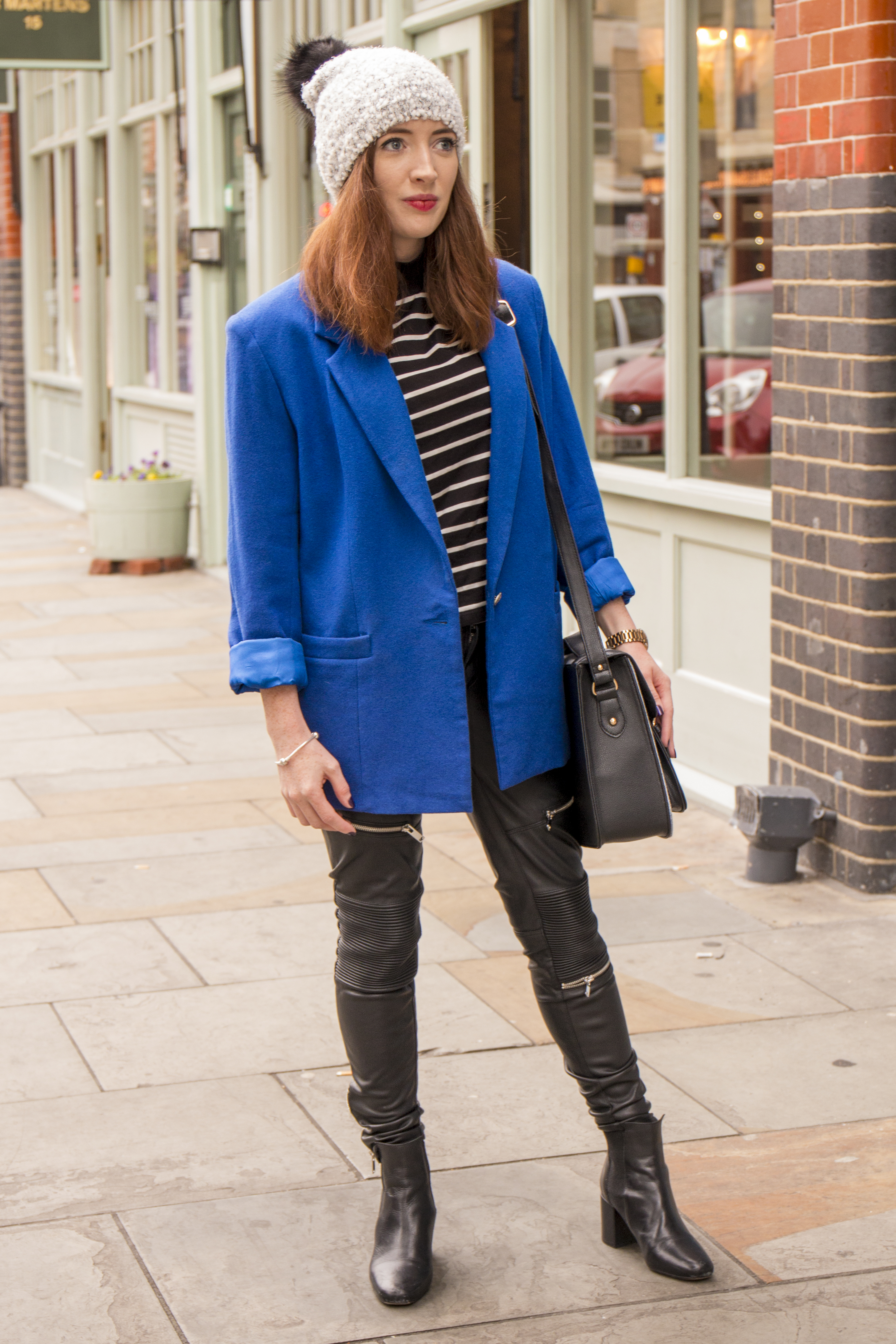 blue vintage coat blog
