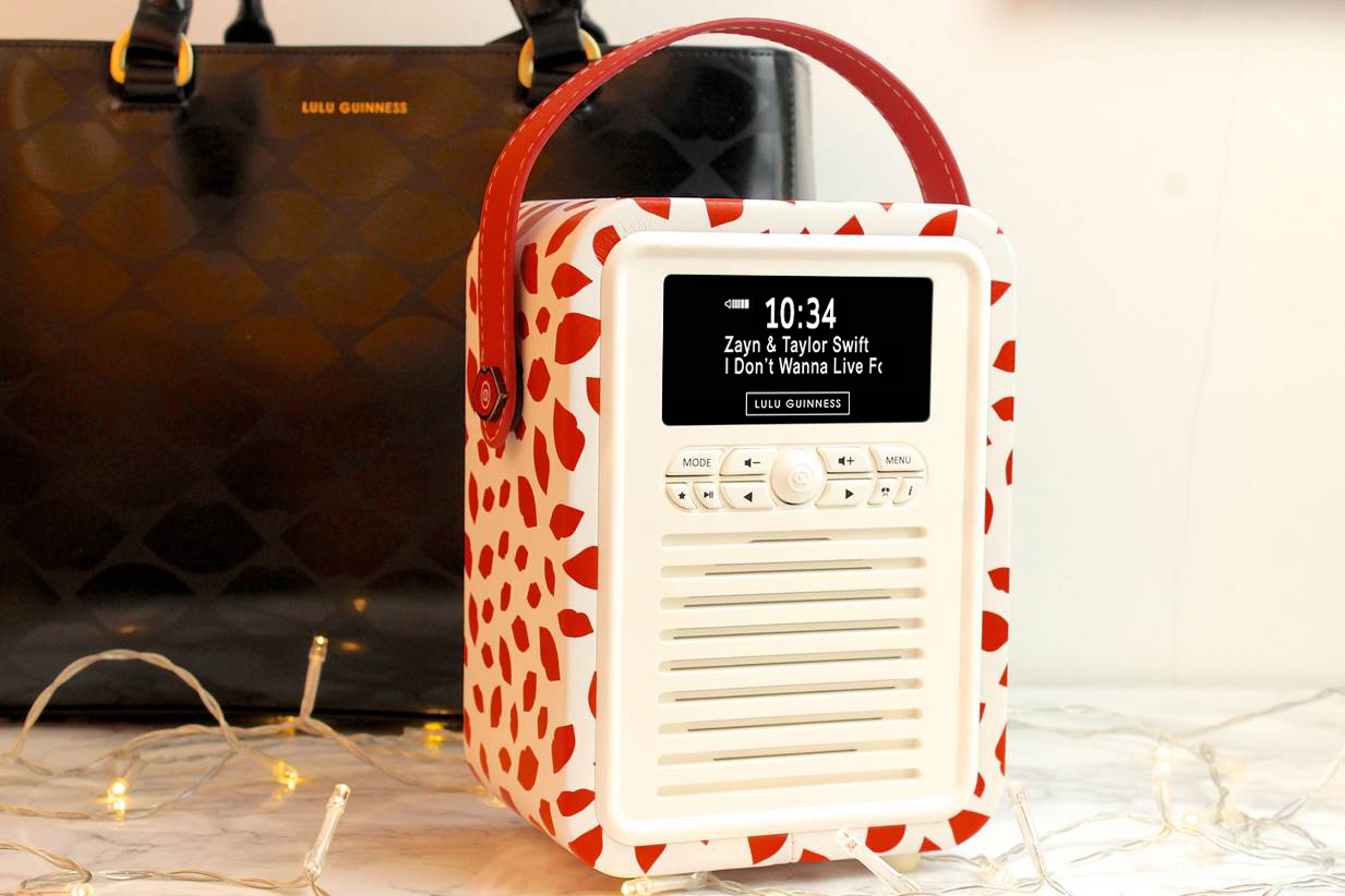 LULU GUINNESS PRINT RETRO MINI RADIO WIN