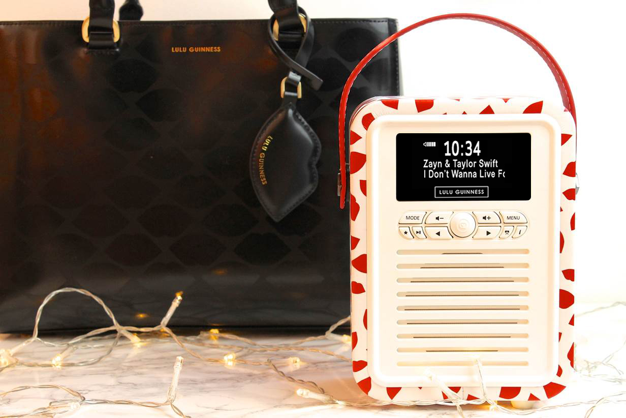 LULU GUINNESS PRINT RETRO MINI RADIO