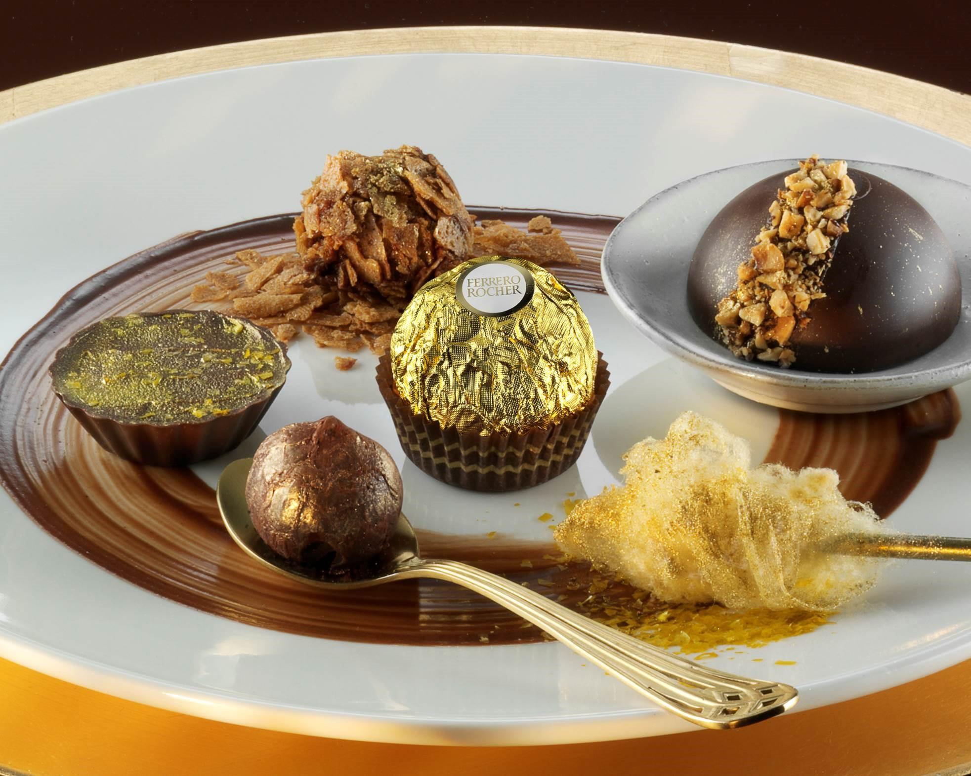 Ferrero Rocher competition dolce dessert plate