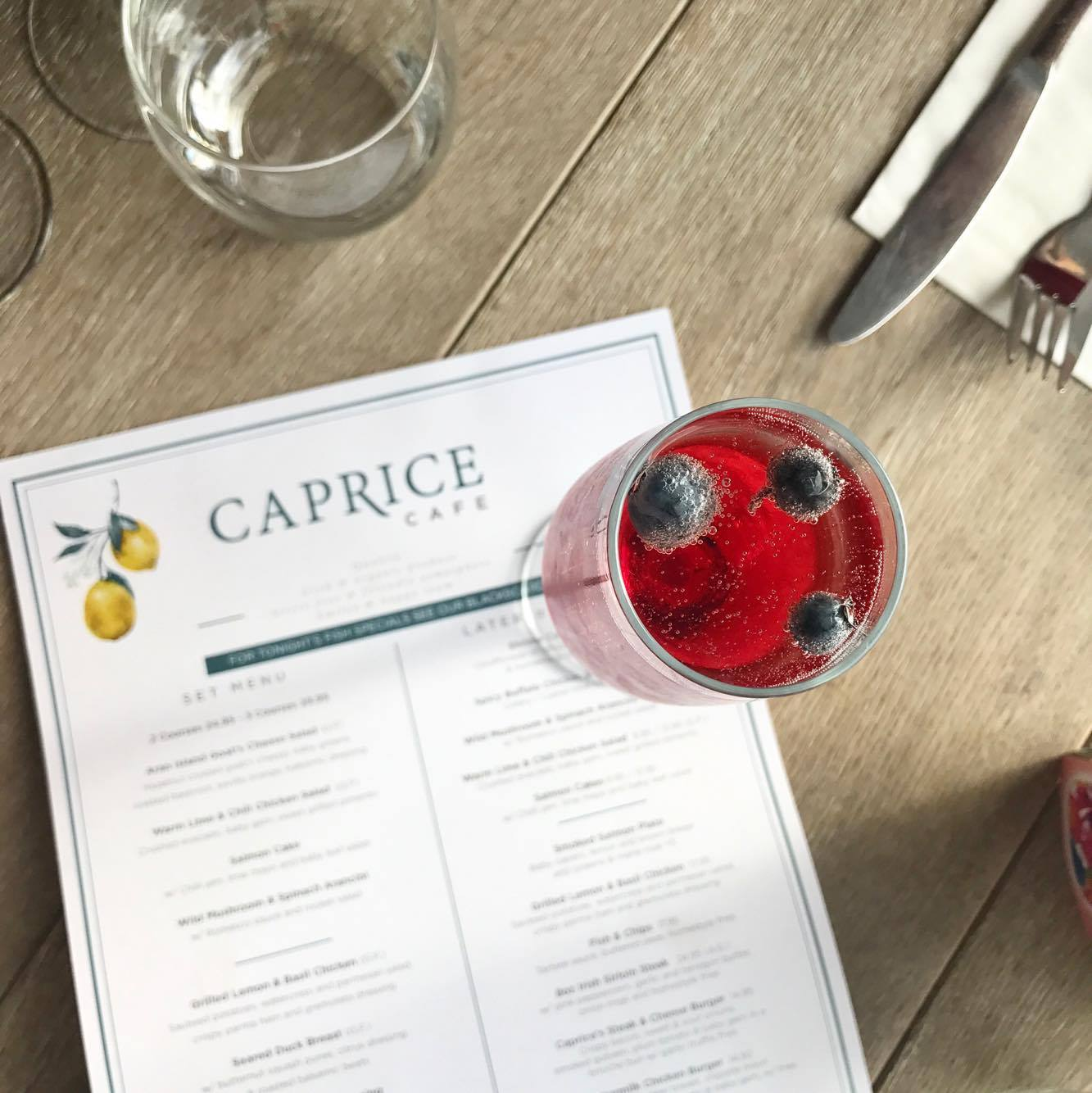 Caprice Cafe Galway prosecco