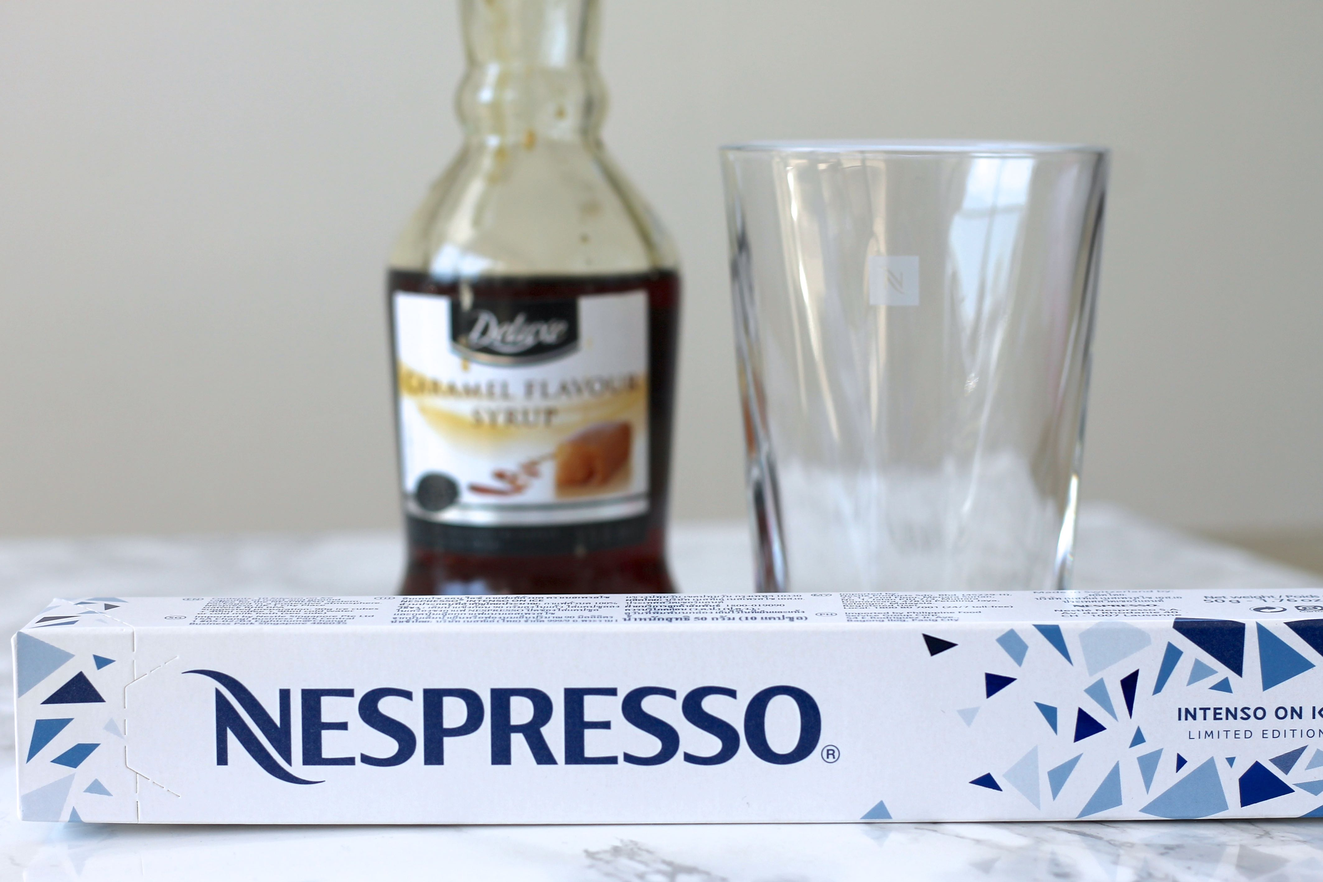 Nespresso iced caramel coffee recipe