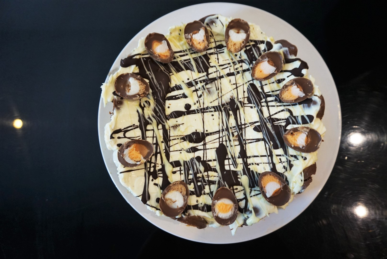 Cadbury Creme Egg Cheesecake recipe